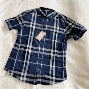 NWT Authentic Burberry Check Men's Short Sleeve